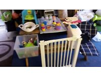 Baby starter set - changing mats/potty, nappy bin, gates plus loads of misc items