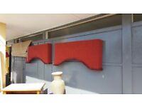 Pair Of Vintage Curtain Pelmets