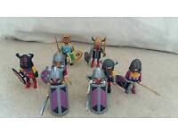 Playmobil knights and viking spearmen and kings
