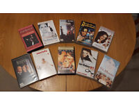 Selection of 10 VHS tapes