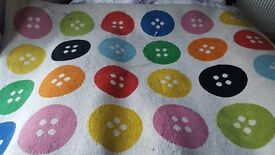 Free ikea button rug ideal for playroom