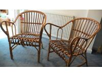 Wicker/Cane Conservatory/Garden Chairs