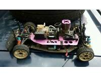 Petrol driven radio control car