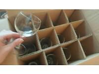 24 red wine glasses