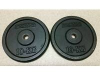 Domyos 10Kg x 4 cast iron weight plates