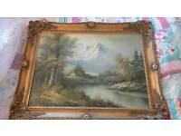 large vintage landscape painting. WILL ACCEPT OFFERS!
