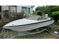 Speedboat Picton 150 gts with Mriner 75 hp 2 stroke.