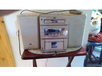 Stereo jvc cd radio casette player