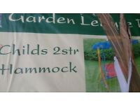 Brand new childs 2 seater hammock