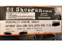 X4 Ed Sheeran tickets cardiff seated sat 23rd June