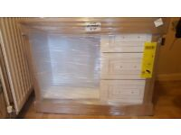brand new, still in packing white 3 draw dressing table, .
