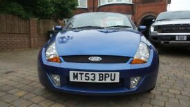 53 PLATE FORD STREET KA 1.6 CONVERTIBLE IN BLUE LOW MILES ARCH CORROSION