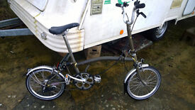 3 speed Brompton folding bike. Ridden less than 10 miles since new