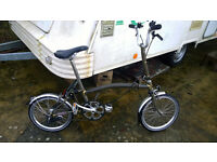 3 speed Brompton folding bike. Ridden less than 10 miles since new
