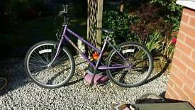 Ladies bicycle 18 speed the make is shimano