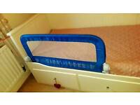 Infant fold down single safety bed rail guard baby kids toddler child