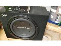 Pioneer 1000w 12inch sub with splx 300w amp