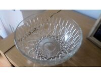 Used A Few Times In Good Condition Cut Glass Fruit / Trifle / Salad / Punch Bowl