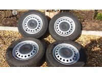 Set of wheels from VW T4 Transporter