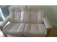 FREE LEATHER SOFA WITH RECLINE FUNCTION