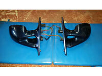 BMW E39 5 series '95 - '03 M3 style mirrors (electric) painted in Topasblau