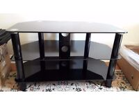 QUICK SALE - BLACK GLASS TV STAND - EXCELLENT CONDITION ONLY £35!!