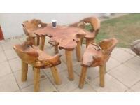 Root wood garden furniture