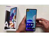 New Samsung galaxy A21s Black Phone Unlocked 4GB RAM, 32GB four cameras Dual sim