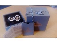 vivienne westwood orb necklace and earings brand new boxed with certificate excellent vallentines
