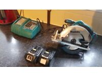 Makita ripsaw with 2 3amp batterys all working 100% and also got the charger but faulty