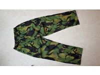 """Waterproof WEB-TEX Breathable 28-29"""" inch Leg Combat Trousers (pants ATC cadets army woodland)"""