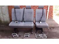 Vw transporter t5/t6 middle row rear seats 2+1