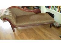 3 seater Edwardian chaise. Excellant condition.