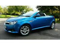 CONVERTIBLE + LONG MOT + VAUXHALL TIGRA SPORT TWINPORT + 1796cc + BLUE + 2 KEYS + ALLOY WHEELS +