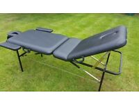 Travel massage table ideal for beauty therapists