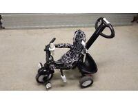 SmarTrike Dazzle Bike - Black and White RRP £89.99