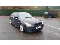 Bmw e60 530d 3.0 Diesel M Sport 6 Spd Manual Full Xenons Leather tints 137k Rare New Pads and Discs
