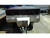 Folding caravan camper 6 berth pennine pullman full Awning