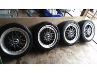 """GENUINE BBS RC041 & RC042 17"""" Split Rims - BMW E36 Style 29 Alloys With cap removal tool"""