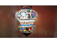 Oriental handcrafted mosaic ceiling pendant light