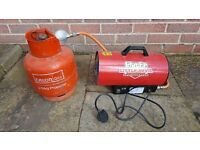Clarke Little Devil Propane Gas Space Heater and Cylinder