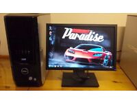 """SALE SAVE £40 Dell XPS 420 MINECRAFT Quad Core Gaming Desktop Computer PC With Dell 19"""""""