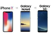 WANTED PHONES - SAMSUNG GALAXY S8 PLUS - SAMSUNG GALAXY NOTE 8 - IPHONE X