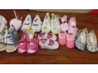 Baby girl clothes, hats and shoes
