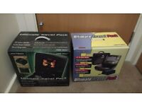 For free: PlayStation 2/PS2 and original Xbox travel packs (monitor, carry case, car power adapter)
