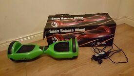 Green hoverboard/ swegway/ smart balance wheel