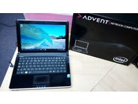 Advent Laptop, 160gb HD, Windows 10, MS Works, Webcam, Wifi, Charger, Boxed