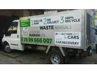 RUBBISH-WASTE REMOVAL MAN WITH VAN