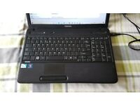 Toshiba C650 laptop dual core T4500 2.30ghz/4gb ram/300gb hard drive