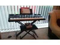 CASIO WK7600 Keyboard Bench Stand and Earphones